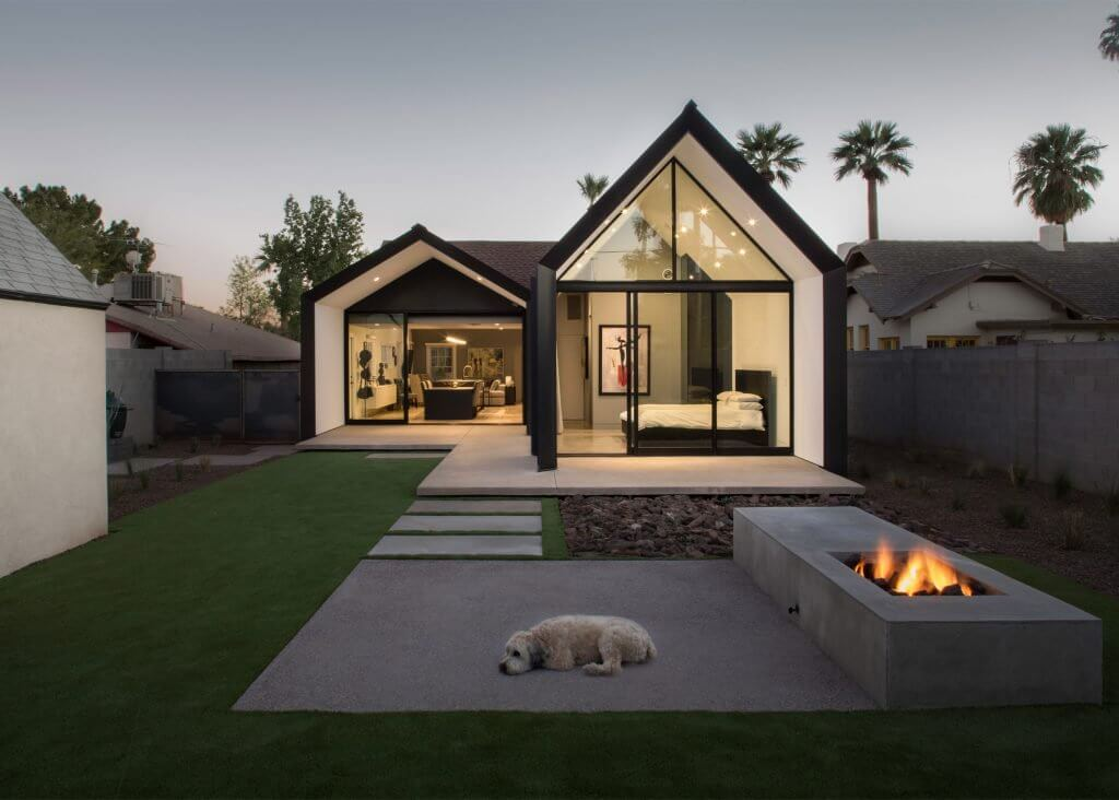 Modern-Home-Addition- with dog